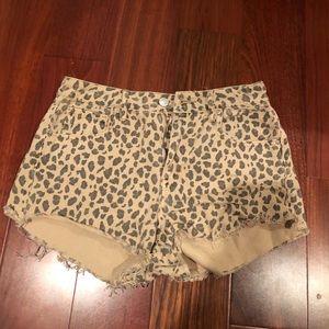 PACSUN Leopard Print Shorts